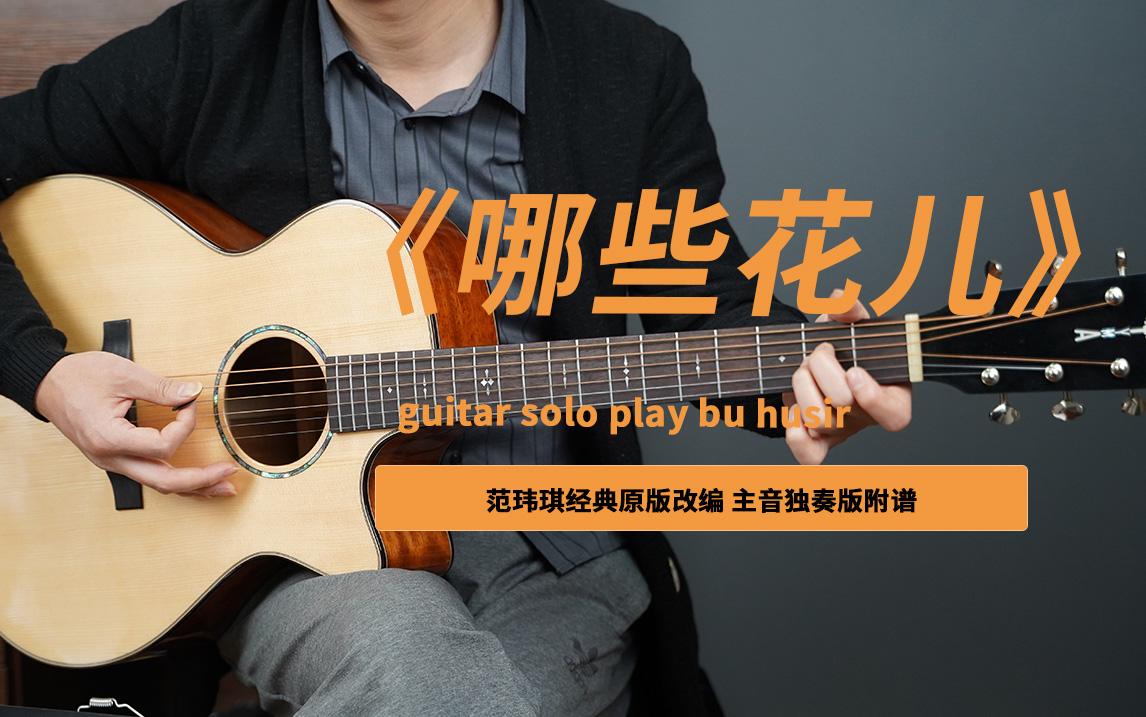 《那些花儿》吉他谱主音solo独奏电吉他谱by胡sir